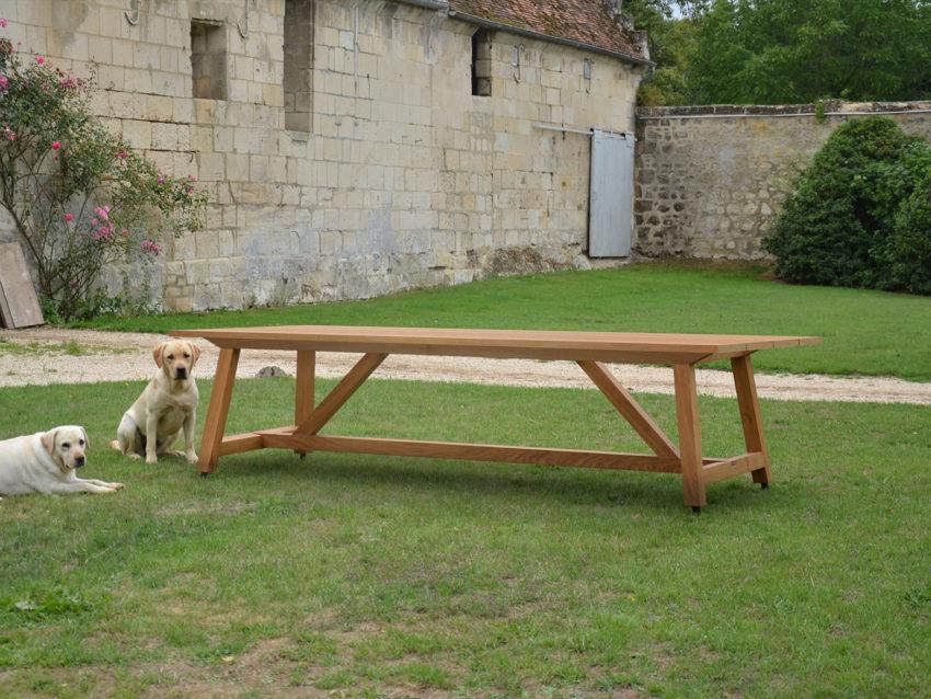 Table en chêne —Alexandre d'Orsetti